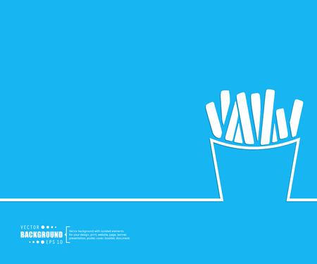 comida chatarra: Concepto del fondo del vector creativo abstracto de web y aplicaciones móviles, diseño de plantilla de ilustración, infografía negocio, página, folleto, bandera, presentación, cartel, portada, folleto, documento. Vectores