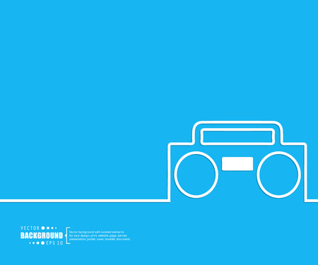 ghetto blaster: Abstract creative concept vector background for Web and Mobile Applications, Illustration template design, business infographic, page, brochure, banner, presentation, poster, cover, booklet, document.