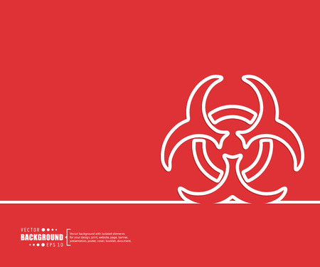 infectious waste: Abstract creative concept vector background. For web and mobile applications, illustration template design, business infographic, brochure, banner, presentation, poster, cover, booklet, document.