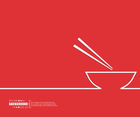 japanese food: Concepto del fondo del vector creativo abstracto de web y aplicaciones m�viles, dise�o de plantilla de ilustraci�n, infograf�a negocio, p�gina, folleto, bandera, presentaci�n, cartel, portada, folleto, documento. Vectores