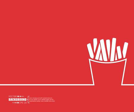 comida rapida: Concepto del fondo del vector creativo abstracto de web y aplicaciones móviles, diseño de plantilla de ilustración, infografía negocio, página, folleto, bandera, presentación, cartel, portada, folleto, documento. Vectores