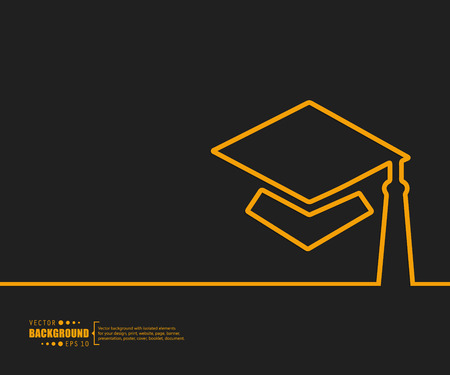 valedictorian: Abstract creative concept vector background. For web and mobile applications, illustration template design, business infographic, brochure, banner, presentation, poster, cover, booklet, document.
