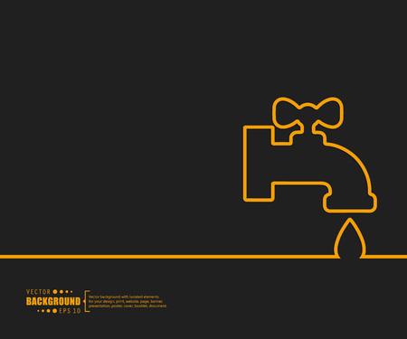 plumber: Fondo abstracto del vector. Para web y aplicaciones móviles, diseño de plantilla ilustración, infografía negocio creativo, folleto, bandera, presentación, cartel concepto, cubierta, folleto, documento.