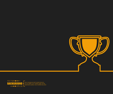 real trophy: Abstract creative concept vector background for Web and Mobile Applications, Illustration template design, business infographic, page, brochure, banner, presentation, poster, cover, booklet, document.
