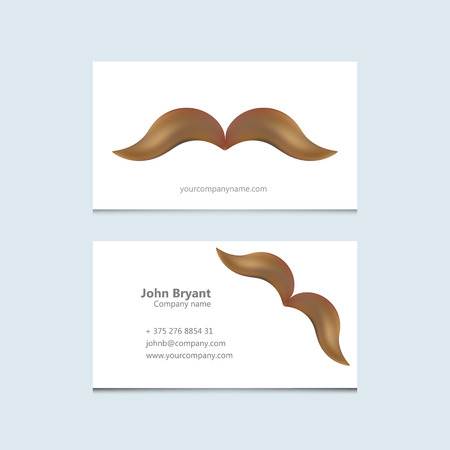 style goatee: Abstract Creative concept vector image   of mustache for web and mobile applications isolated on background, art illustration template design, business infographic and social media, icon, symbol