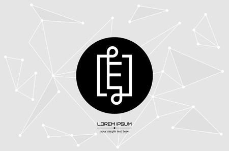 concept abstrait lettre vecteur créatif E. Colorful app logo élément icône isolé sur fond. Art illustration conception de modèle de création pour signe de logiciels d'entreprise et les médias sociaux doublé symbole.