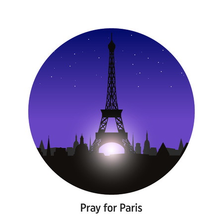 repose: Pray for Paris, 13 November 2015. Abstract creative concept vector image. For art illustration template design, infographic and social media.