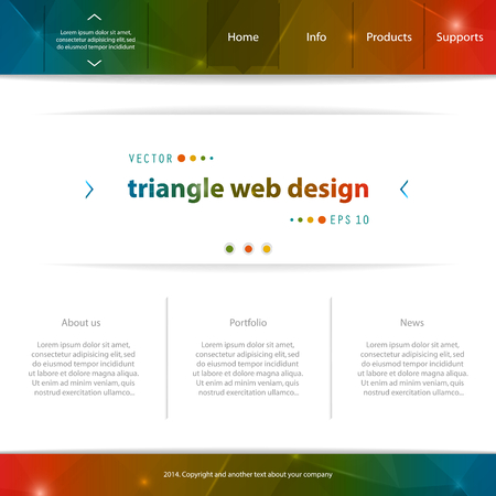 cerulean: Abstract Creative concept vector website template. For modern web and mobile Applications isolated on background, interface, illustration design, business infographic and social multimedia icon. Illustration