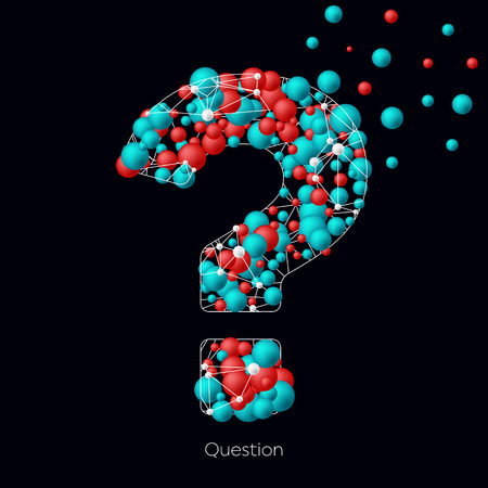 interrogation point: Creative concept vector icon of question mark for Web and Mobile Applications isolated on background. Art illustration template design, Business infographic and social media, origami icons Illustration