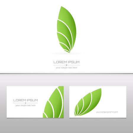 leaf shape: Abstract Creative concept vector image logo of real estate for web and mobile applications isolated on background, art illustration template design, business infographic and social media, icon, symbol Illustration