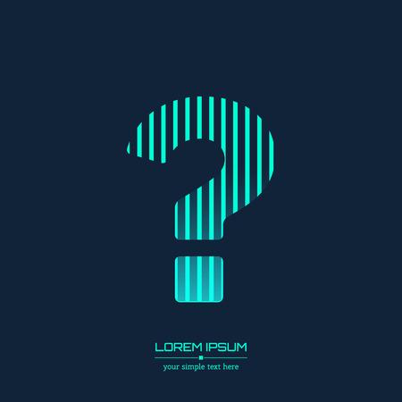 point d interrogation: R�sum� Creative ic�ne concept de vecteur de point d'interrogation pour le Web et mobiles Applications isol� sur fond. Vector illustration mod�le de conception, d'affaires et de m�dias infographie sociale, ic�nes de l'origami