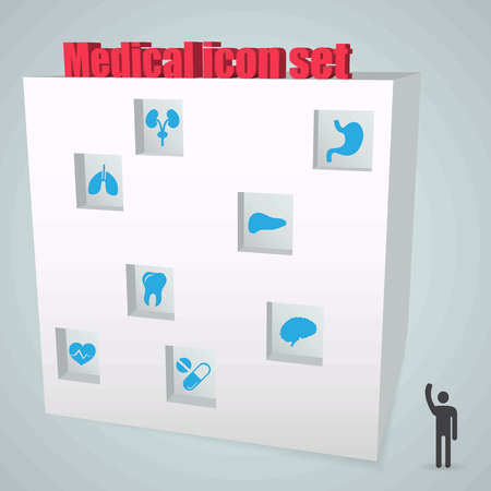 Abstract Creative concept vector icon medical set for Web and Mobile Applications isolated on background. Vector illustration template design, Business infographic and social media, origami icons.