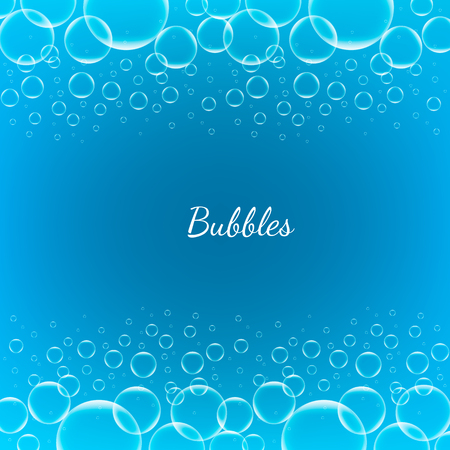 shiny background: Abstract Creative concept vector shiny transparent bubbles for Web and Mobile Applications isolated on blue background, aqua art illustration template design, business infographic and social media.