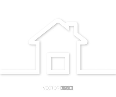 missive: Abstract Creative concept vector house for Web and Mobile Applications, Illustration template design, art business infographic, page, brochure, banner, presentation, poster, cover, booklet, document. Illustration