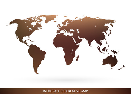Abstract creative concept vector map of the world for Web and Mobile Applications isolated on background. Vector illustration, creative template design, Business software and social media, origami. Ilustrace