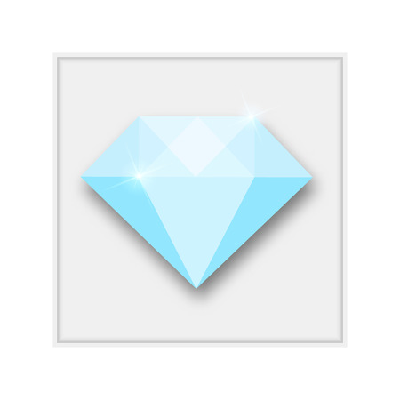 karat: Abstract creative concept vector icon of diamond. For web and mobile content isolated on background, unusual template design, flat silhouette object and social media image, triangle art origami. Illustration