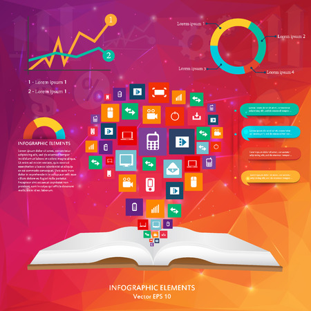 siluet: Abstract creative concept vector siluet hands of icons. For web and mobile applications isolated on background, illustration template design, Business infographic and social media.