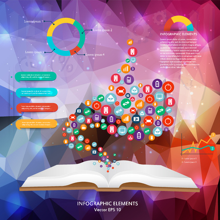 information technology: Abstract creative concept vector siluet hands of icons. For web and mobile applications isolated on background, illustration template design, Business infographic and social media.