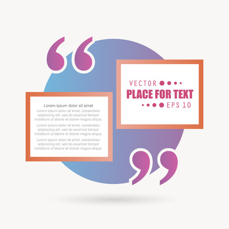 inverted: Abstract concept vector empty speech square quote text bubble. For web and mobile app isolated on background, illustration template design, creative presentation, business infographic social media.
