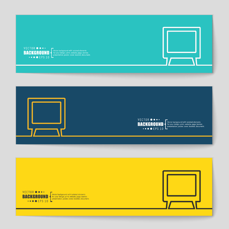 retro computer: Abstract Creative concept vector background for Web and Mobile Applications, Illustration template design, business infographic, page, brochure, banner, presentation, poster, cover, booklet, document.