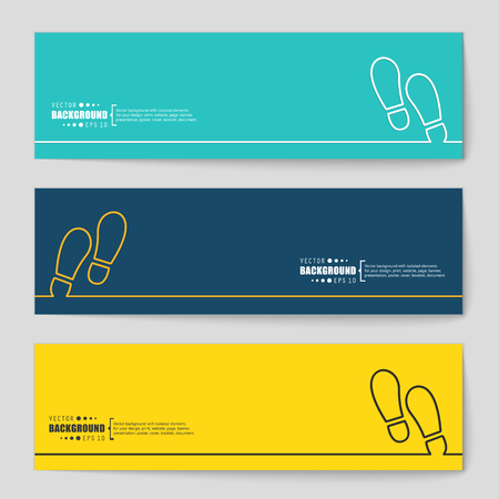 walk away: Abstract creative concept vector background. For web and mobile applications, illustration template design, business infographic, brochure, banner, presentation, poster, cover, booklet, document.