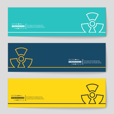 radioactivity danger logo: Abstract Creative concept vector background for Web and Mobile Applications, Illustration template design, business infographic, page, brochure, banner, presentation, poster, cover, booklet, document.