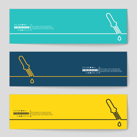 eye pipette: Abstract creative concept vector background for Web and Mobile Applications, Illustration template design, business infographic, page, brochure, banner, presentation, poster, cover, booklet, document.