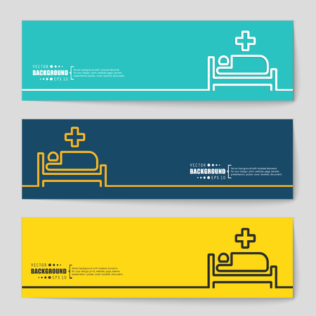 hospital patient: Abstract creative concept vector background for Web and Mobile Applications, Illustration template design, business infographic, page, brochure, banner, presentation, poster, cover, booklet, document.