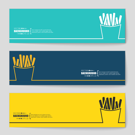 frites: Abstract creative concept vector background for Web and Mobile Applications, Illustration template design, business infographic, page, brochure, banner, presentation, poster, cover, booklet, document.