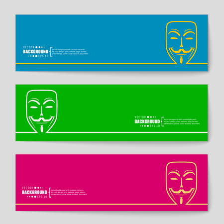 anonymity: Abstract Creative concept vector background for Web and Mobile Applications, Illustration template design, business infographic, page, brochure, banner, presentation, poster, cover, booklet, document.