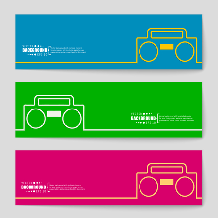 portable player: Abstract creative concept vector background for Web and Mobile Applications, Illustration template design, business infographic, page, brochure, banner, presentation, poster, cover, booklet, document.