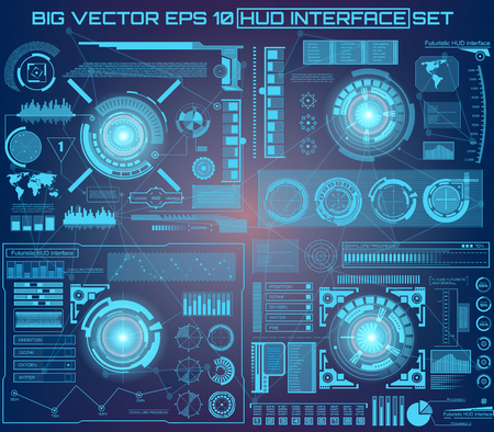software solution: Abstract future, concept vector futuristic virtual graphic touch user interface HUD. For web, site, mobile applications isolated on black background, techno, online design, business, gui, ui