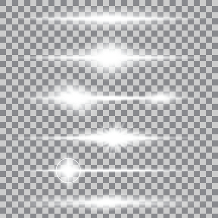 ray of light: Creative concept Vector set of glow light effect stars bursts with sparkles isolated on background. For illustration template art design, banner for Christmas celebrate, magic flash energy ray.