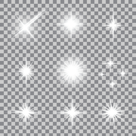 light ray: Creative concept Vector set of glow light effect stars bursts with sparkles isolated on background. For illustration template art design, banner for Christmas celebrate, magic flash energy ray.