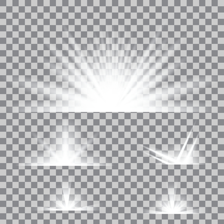 Creative concept Vector set of glow light effect stars bursts with sparkles isolated on background. For illustration template art design, banner for Christmas celebrate, magic flash energy ray.
