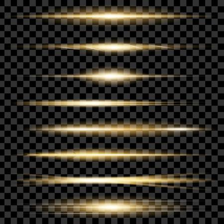 グロー光効果の創造的な概念ベクトルを設定は、輝きと黒の背景上に孤立バーストを星します。イラスト テンプレート アート デザインのクリスマ  イラスト・ベクター素材
