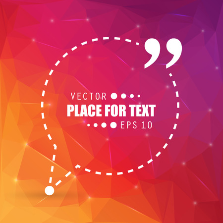 category: Abstract concept vector empty speech square quote text bubble. For web and mobile app isolated on background, illustration template design, creative presentation, business infographic social media.