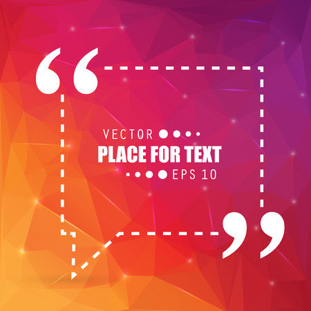 textbox: Abstract concept vector empty speech square quote text bubble. For web and mobile app isolated on background, illustration template design, creative presentation, business infographic social media.