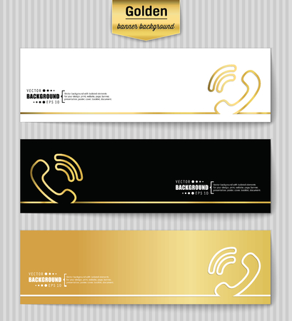 tech support: Abstract creative concept gold vector background for web app, illustration template design, business infographic, page, brochure, banner, presentation, brochure, booklet, layout Illustration