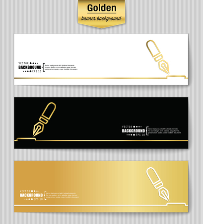 Abstract creative concept gold vector background for web app, illustration template design, business infographic, page, brochure, banner, presentation, brochure, booklet, layout Vector Illustration