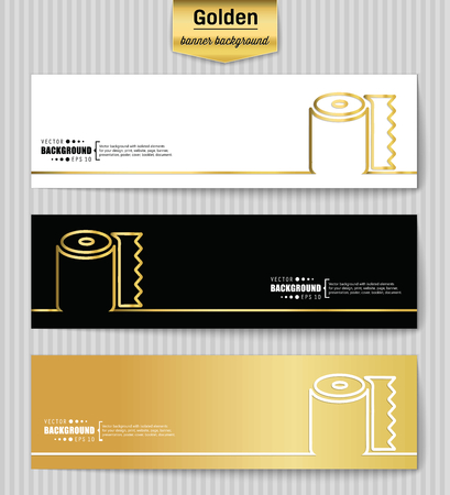 tissue paper art: Abstract creative concept gold vector background for web app, illustration template design, business infographic, page, brochure, banner, presentation, brochure, booklet, layout Illustration