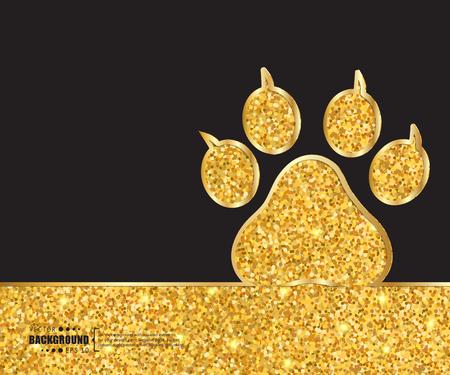 Creative vector animal footprint. Art illustration template background. For presentation, layout, brochure, logo, page, print, banner, poster, booklet, business infographic, wallpaper, sign, flyer. Logo