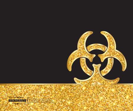 bio hazard: Creative vector Bio hazard. Art illustration template background. For presentation, layout, brochure, logo, page, print, banner, poster, cover, booklet, business infographic, wallpaper, sign, flyer.