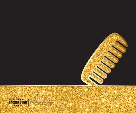 spazzola per capelli vettore creativo. Arte illustrazione Modello di sfondo. Per la presentazione, il layout, depliant, logo, pagina, stampa, banner, poster, copertina, libretto, infografica affari, carta da parati, segno, flyer.