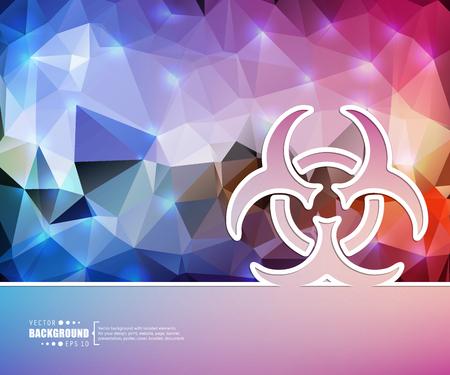 bio hazard: Creative vector Bio hazard.