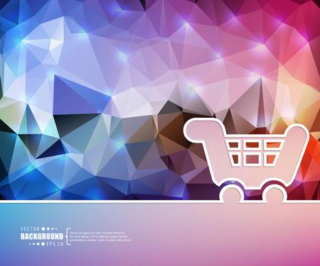 checkout line: Creative vector cart.