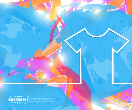 tee: Creative vector tee shirt. Illustration