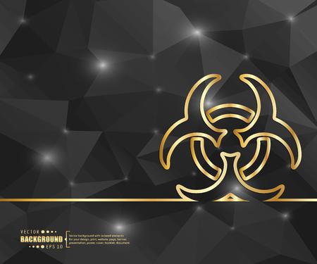 hazardous substances: Creative vector Bio hazard.