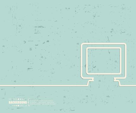 threadbare: Creative vector monitor. Illustration