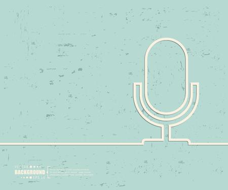 threadbare: Creative vector microphone.